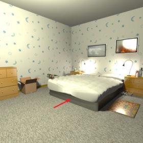 Wasseradern unter dem Bett